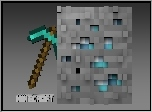 Minecraft, Kilof, Diament, Ruda